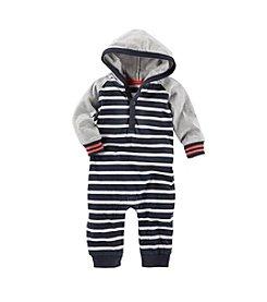 OshKosh B'Gosh® Baby Boys' 3-24M Striped Hooded Coveralls