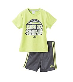 adidas® Baby Boys Rise To Shine Short Set