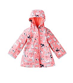 London Fog® Baby Girls' Dog Printed Raincoat
