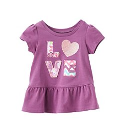 mix&MATCH Baby Girls' 12-24 Month Love Peplum Tee