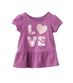 mix&MATCH Baby Girls' Love Peplum Tee