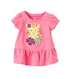 Mix & Match Baby Girls' Tiger Peplum Tee