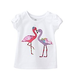 mix&MATCH Baby Girls' 12-24 Month Flamingo Bow Tee