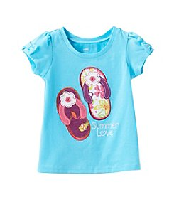 Mix & Match Baby Girls' Flip-Flop Bow Tee