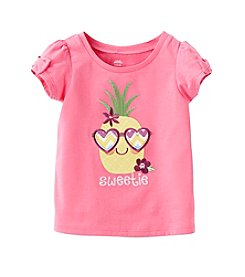 Mix & Match Baby Girls' Pineapple Bow Tee
