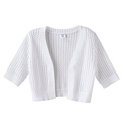 Miss Attitude Girls' 7-16 Pointelle Cardigan