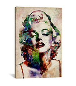 iCanvas Watercolor Marilyn Monroe by Michael Tompsett Canvas Print