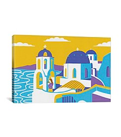 iCanvas Santorini by Boyoun Kim Canvas Print