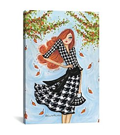 iCanvas Best Dress Houndstooth by Bella Pilar Canvas Print