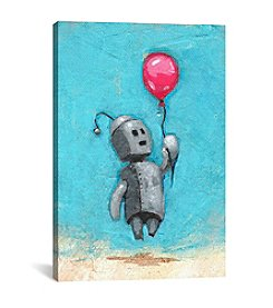 iCanvas Robot With Red Balloon by Craig Snodgrass Canvas Print