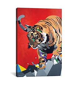 iCanvas Geo Tiger by DAAS Canvas Print