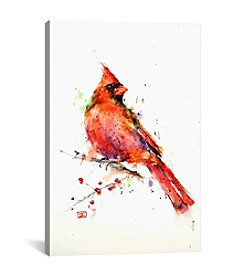 iCanvas Red Bird by Dean Crouser Canvas Print
