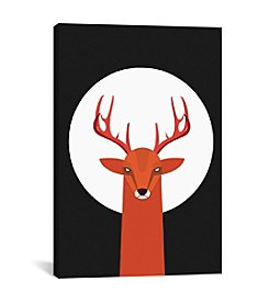 iCanvas Deer & Moon by Volkan Dalyan Canvas Print