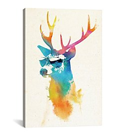 iCanvas Sunny Stag by Robert Farkas Canvas Print