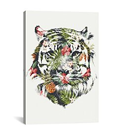 iCanvas Tropical Tiger by Robert Farkas Canvas Print