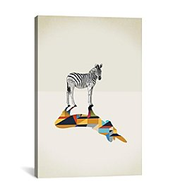 iCanvas Walking Shadow Zebra by Jason Ratliff Canvas Print