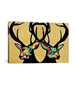 iCanvas The Two Stags by Keemo Canvas Print