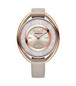 Swarovski® Women's Crystalline Oval Rose Goldtone Watch