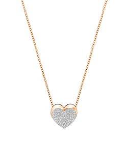 Swarovski® Rose Goldtone Heart Pendant Necklace