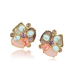 Carolee® Goldtone The Hamptons Cluster Clip On Earrings