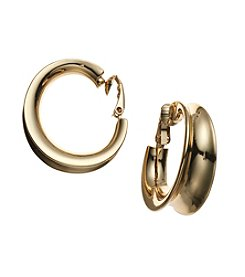 Lauren Ralph Lauren® Goldtone Concave Clip Hoop Earrings