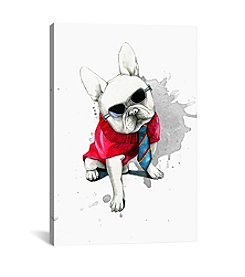 iCanvas Bulldog by Rongrong DeVoe Canvas Print