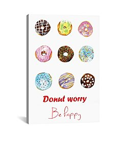 iCanvas Do Not Worry Be Happy by Rongrong DeVoe Canvas Print
