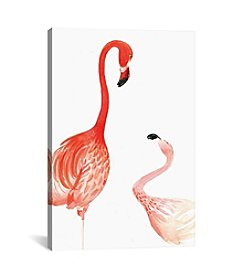 iCanvas Flamingo by Rongrong DeVoe Canvas Print
