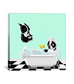 iCanvas Bath Tub BT by Brian Rubenacker Canvas Print