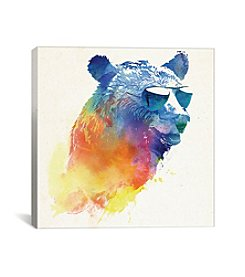 iCanvas Sunny Bear by Robert Farkas Canvas Print