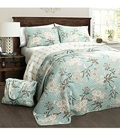 Half Moon Botanical Garden 4-pc. Quilt Set