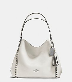 COACH OUTLINE STUDS AND GROMMETS EDIE SHOULDER BAG 31 IN LEATHER