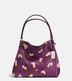 COACH EDIE SHOULDER BAG 31 IN FLORAL PRINT LEATHER