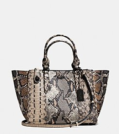 COACH CROSBY CARRYALL IN PIECED EXOTIC EMBOSSED LEATHER