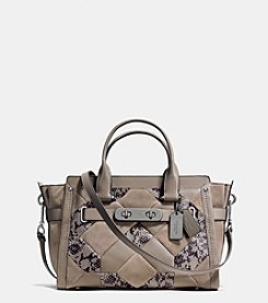 COACH SWAGGER IN PATCHWORK EXOTIC EMBOSSED LEATHER