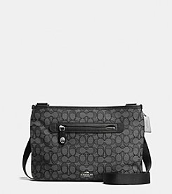 COACH TAYLOR CROSSBODY IN SIGNATURE COATED CANVAS