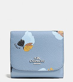 COACH SMALL WALLET IN FLORAL PRINT COATED CANVAS
