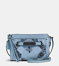 COACH SWAGGER WRISTLET IN PATCHWORK EXOTIC EMBOSSED LEATHER