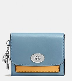 COACH CHARM COMPACT CASE IN COLORBLOCK LEATHER