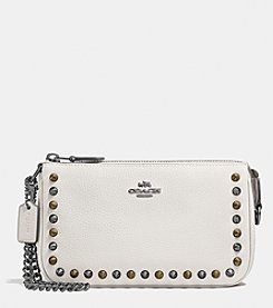 COACH OUTLINE STUDS NOLITA WRISTLET 19 IN LEATHER