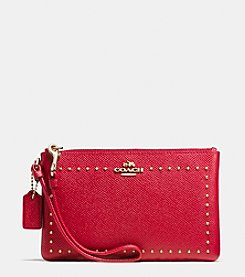 COACH EDGE STUDS SMALL WRISTLET IN LEATHER