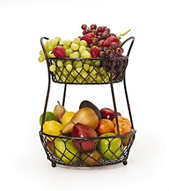 Gourmet Basics by Mikasa Loop & Lattice 2-Tier Basket