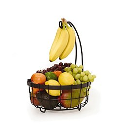 Gourmet Basics by Mikasa General Store Center Piece Basket with Banana Hook