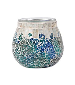 The Pomeroy Collection Decorative Mosaic Glass Pillar Holder