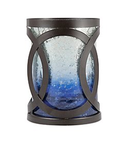 The Pomeroy Collection Decorative Rustic Metal And Ombre Glass Hurricane