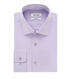 Calvin Klein Men's Regular Fit Solid Point Collar Dress Shirt