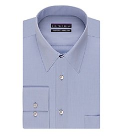 Geoffrey Beene® Men's Regular Fit Corded Solid Point Collar Dress Shirt