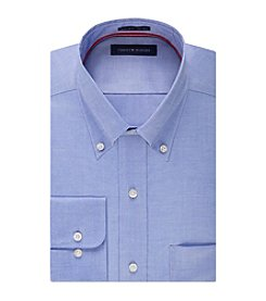 Tommy Hilfiger® Men's Regular Fit Solid Pinpoint Button Collar Shirt