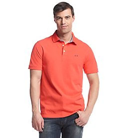 Le Tigre Men's Short Sleeve Chambray Trim Pique Polo