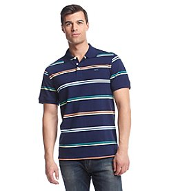 Le Tigre Men's Short Sleeve Multi Stripe Pique Polo